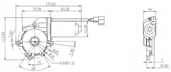 window motor hy-2740a model